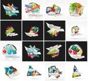 Sistema de la bandera infographic geométrica abstracta Imagen de archivo libre de regalías