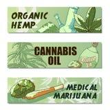 Sistema de la bandera de la marijuana libre illustration