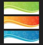 Sistema de la bandera o del jefe del fondo de la onda Fotos de archivo libres de regalías