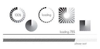 Sistema de la barra de cargamento ilustración del vector