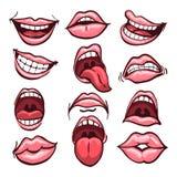 Sistema de la boca de la historieta libre illustration