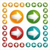 Sistema de la bola de la flecha del color Fotografía de archivo