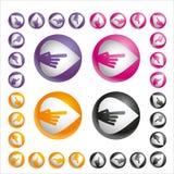 sistema de la bola de mano de la flecha del color Imagen de archivo