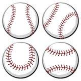 Sistema de la bola del béisbol Imagen de archivo libre de regalías