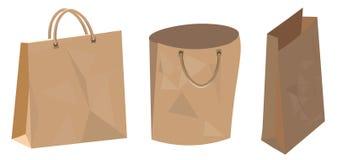 Sistema de la bolsa de papel para la tienda de alimentos y el supermercado Foto de archivo libre de regalías