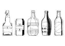Sistema de la botella de cerveza foto de archivo libre de regalías