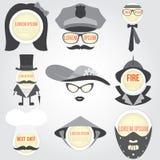 Sistema de la burbuja decorativa del discurso de los hombres Imagen de archivo libre de regalías