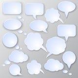 Sistema de la burbuja del discurso del vector Fotos de archivo libres de regalías