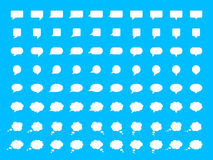Sistema de la burbuja del discurso del vector Foto de archivo libre de regalías