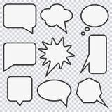 Sistema de la burbuja del discurso Elementos para la historieta del diseño Vector stock de ilustración