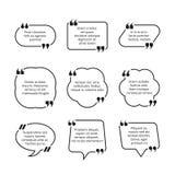 Sistema de la burbuja del texto de la cita libre illustration