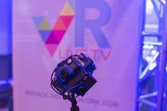 Sistema de la cámara de la realidad virtual de 360 grados Imagen de archivo