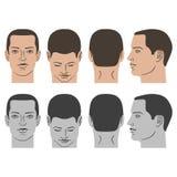 Sistema de la cabeza del peinado del hombre Fotos de archivo libres de regalías