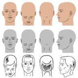 Sistema de la cabeza del peinado del hombre Imagenes de archivo