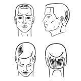 Sistema de la cabeza del peinado del hombre Fotografía de archivo