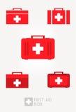 Sistema de la caja de los primeros auxilios Foto de archivo libre de regalías