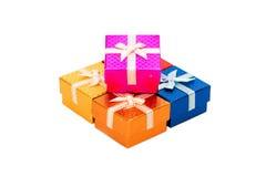 Sistema de la caja de regalo Imagen de archivo libre de regalías
