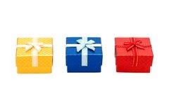 Sistema de la caja de regalo Fotos de archivo