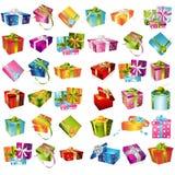 Sistema de la caja de regalo Imágenes de archivo libres de regalías