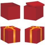 Sistema de la caja de regalo del vector Foto de archivo libre de regalías