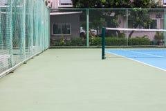Sistema de la capa de la masilla de la acción, campo de tenis Fotografía de archivo