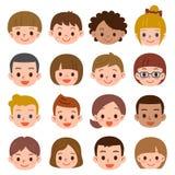 Sistema de la cara del mucho niño Fotos de archivo