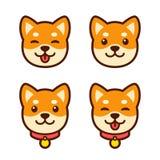 Sistema de la cara del perrito de Shiba Inu libre illustration