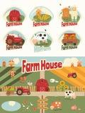 Sistema de la casa de la granja Fotos de archivo libres de regalías