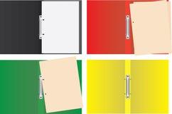 Sistema de la colección de carpetas coloridas Fotografía de archivo