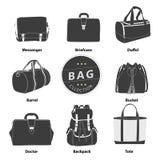 Sistema de la colección de los bolsos Fotografía de archivo