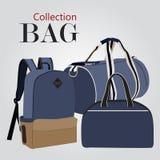 Sistema de la colección de los bolsos Imagen de archivo