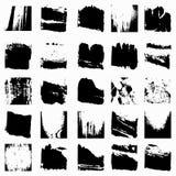 Sistema de la colección hermosa de la textura monocromática del grunge Imagenes de archivo