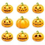 Sistema de la colección de las calabazas de Halloween libre illustration