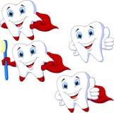 Sistema de la colección de los dientes de la historieta Imagen de archivo
