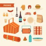 Sistema de la comida campestre del verano Foto de archivo
