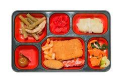 Sistema de la comida de Japón del buñuelo de la carne Foto de archivo libre de regalías