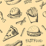 Sistema de la comida rápida Imágenes de archivo libres de regalías