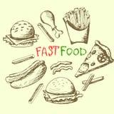 Sistema de la comida rápida Foto de archivo
