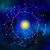 Sistema de la constelación del zodiaco Imágenes de archivo libres de regalías