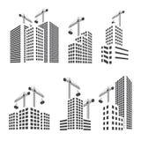Sistema de la construcción de edificios stock de ilustración