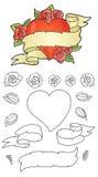 Sistema de la construcción del tatuaje del corazón Imagenes de archivo