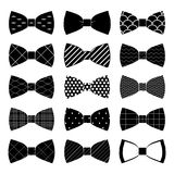 Sistema de la corbata de lazo adentro en el fondo blanco Fotografía de archivo