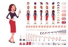 Sistema de la creación del carácter de la secretaria libre illustration