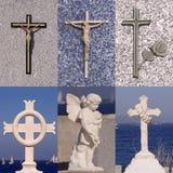 Sistema de la cruz de la religión Imagen de archivo libre de regalías