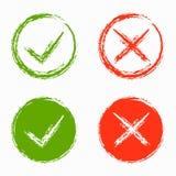 Sistema de la Cruz verde y Roja libre illustration