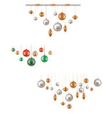 Sistema de la decoración hunging de la bola Fotografía de archivo libre de regalías