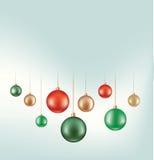 Sistema de la decoración hunging de la bola Imágenes de archivo libres de regalías