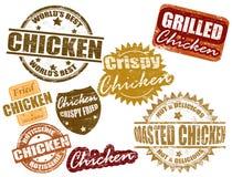 Sistema de la estampilla del pollo Imagen de archivo