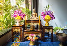 Sistema de la estatua de Buda Fotos de archivo