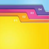 Sistema de la etiqueta de la carpeta Foto de archivo